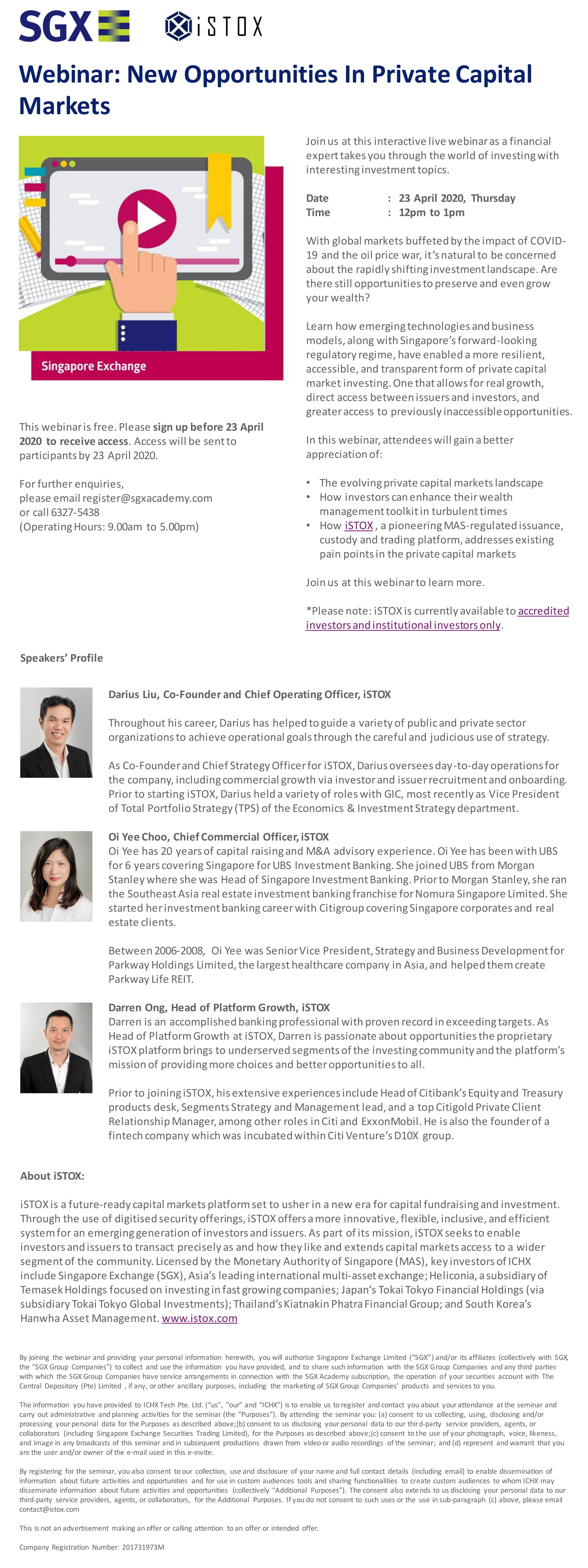 Webinar: New Opportunities In Private Capital Markets